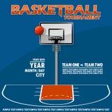 Wariant plakat dla koszykówka turnieju Zdjęcia Royalty Free
