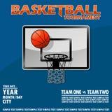 Wariant plakat dla koszykówka turnieju Zdjęcie Stock