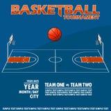 Wariant plakat dla koszykówka turnieju Zdjęcia Stock