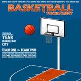 Wariant plakat dla koszykówka turnieju Obrazy Stock