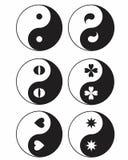 Warianty Yin Yang royalty ilustracja