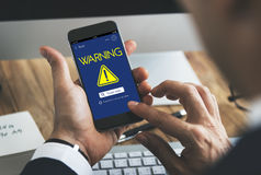 Waring Alert Exclamation Point Concept Royalty Free Stock Photo