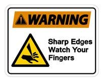 Waring Sharp Edges Watch Your Fingers Symbol Sign Isolate On White Background,Vector Illustration. Accident, activation, alarm, alert, area, avoid, bandage stock illustration