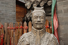 Warior chinês da estátua fotos de stock