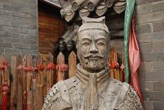 Warior chino de la estatua fotos de archivo