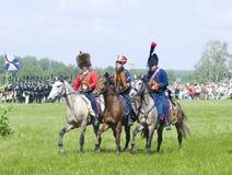 wariors för stridborodinokavalleri Royaltyfri Bild