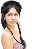 warkoczy brunetki korona Obrazy Royalty Free