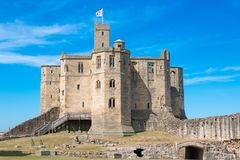 Warkworth城堡英国英国欧洲 免版税库存图片