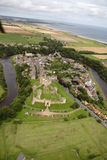 Warkworth from the air Stock Photos