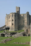 Warkworth Castle. Castle full of history where ememies have fought over this wonderful property for years stock photography