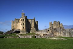Warkworth castle Stock Images