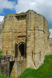 Warkworth Castle entrance tower Stock Photo