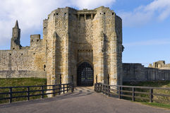 Warkworth Castle Gate house Stock Photos