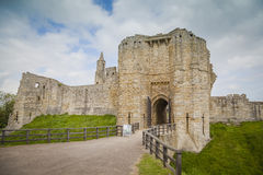 Warkworth Castle. Historic Warkworth Castle in Northumberland Stock Images