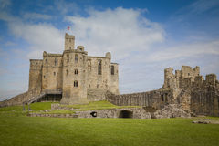 Warkworth Castle. Historic Warkworth Castle in Northumberland Stock Photos