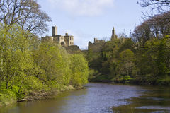 Warkworth Castle. Stock Photo