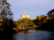 Warkworth Schloss Stockfotos