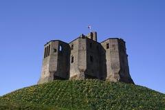 Warkworth Schloss lizenzfreie stockfotos