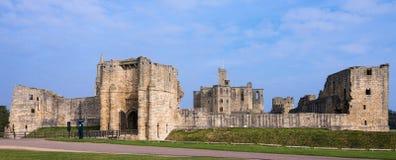 Warkworth slott Arkivbild