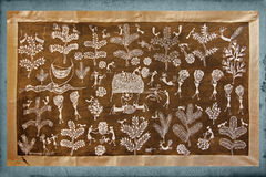 Warli wall painting Stock Photos