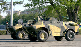 Warlike equipment. Armored reconnaissance and patrol vehicles Royalty Free Stock Photography
