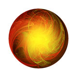Warm abstract ball Stock Photo