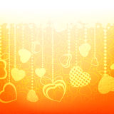 Warm abstract valentine card template. EPS 8 Stock Images