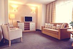Warm atmosphere in hotel room Stock Image