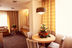 Warm atmosphere in hotel room Stock Photo