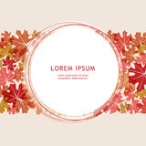 Warm autumn. Banner with space under the text. Autumn leaves on Royalty Free Stock Images