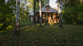 Warm autumn evening in the old estate. Tarkhany (Lermontov's estate), Russia stock images