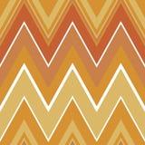 Warm autumn geometric seamless pattern. Zig-zag. Orange and white royalty free illustration