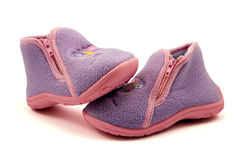 Warm baby shoes Royalty Free Stock Photography