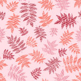 Warm background with scraped nanakamado leaves. Seamless pattern. Stock Photo