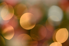 Warm background of spherical bokeh or shapes Stock Photos