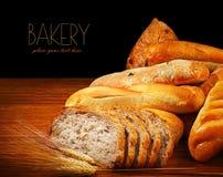 Warm baked bread Stock Photo