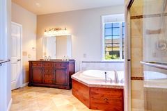 Warm bathroom interior Stock Photos