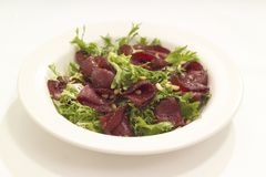 Warm beef salad Royalty Free Stock Photography