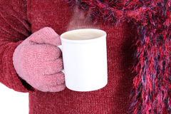 Warm beverage in Winter Royalty Free Stock Image