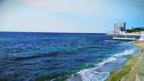 Black sea in Odessa. Warm black sea in Odessa. Arcadia beach stock images