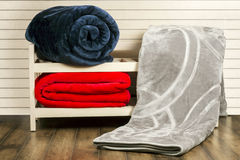 Warm Blanket and bed sheet Royalty Free Stock Photo