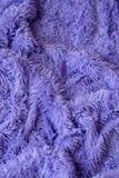 A warm blanket. Lavender color Stock Photos