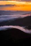 Warm Blue Ridge Mountain Sunrise 4 Stock Photography
