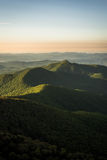 Warm Blue Ridge Mountain Sunrise Stock Photography