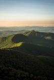 Warm Blue Ridge Mountain Sunrise Stock Photography