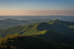 Warm Blue Ridge Mountain Sunrise 2 Royalty Free Stock Photo