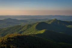 Warm Blue Ridge Mountain Sunrise 2 Royalty Free Stock Photo
