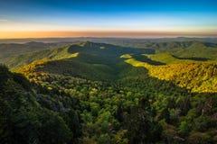 Warm Blue Ridge Mountain Sunrise 3 Royalty Free Stock Image