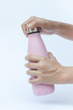 Warm bottle  on white background Stock Photography