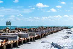 Warm and Breezy Day. A warm and breezy day at the beach on Anna Maria Island in Southwest Florida royalty free stock photography